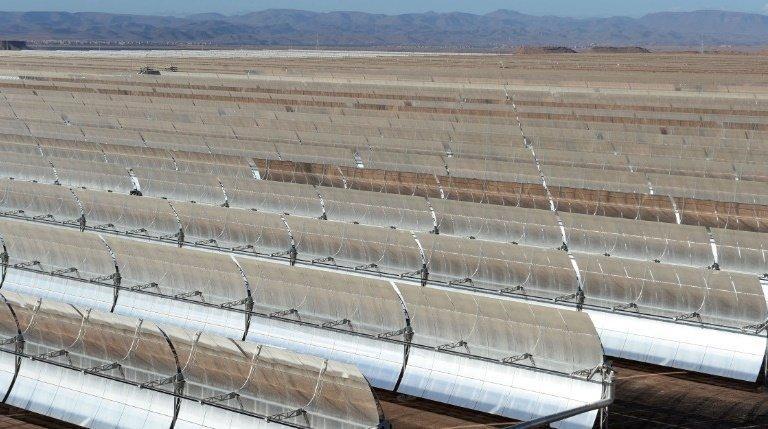 Morocco Noor I solar power plant